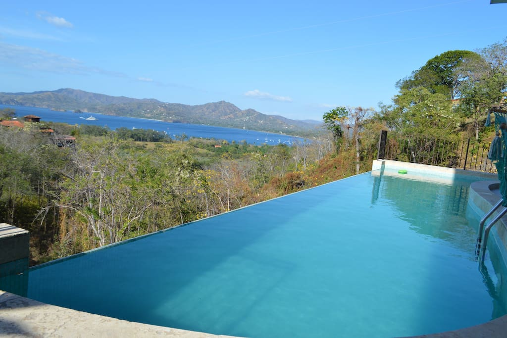 Take a dip or a swim in this large infinity pool.  Room for everyone!