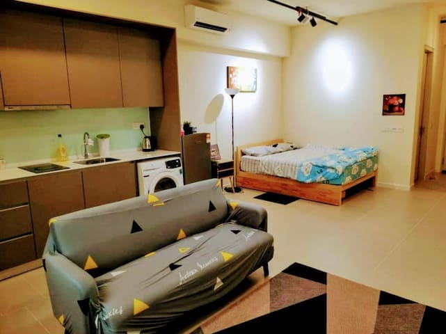 Cozy Studio Apartment with WiFI @ Tamarind Square