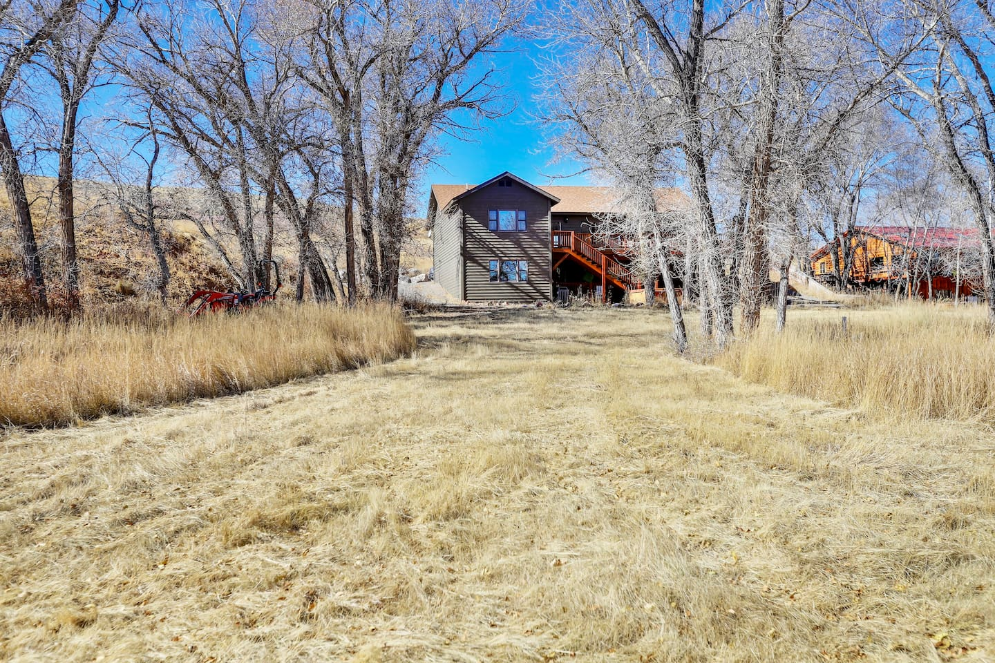 View of the back side of the home from the Wind River