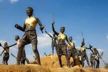 Ya Mo memorial in Sam Rit village 300 meters away