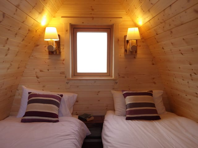 WESTPORT Eco glamping pods in the Oak woods. No. 2