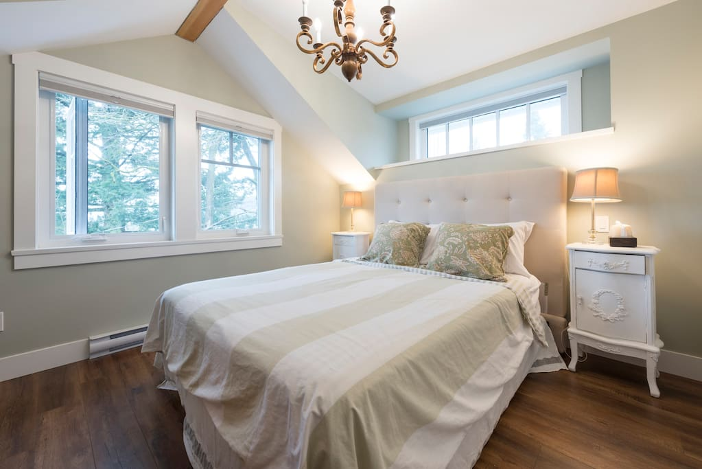 Master Bedroom where you can view downtown Vancouver