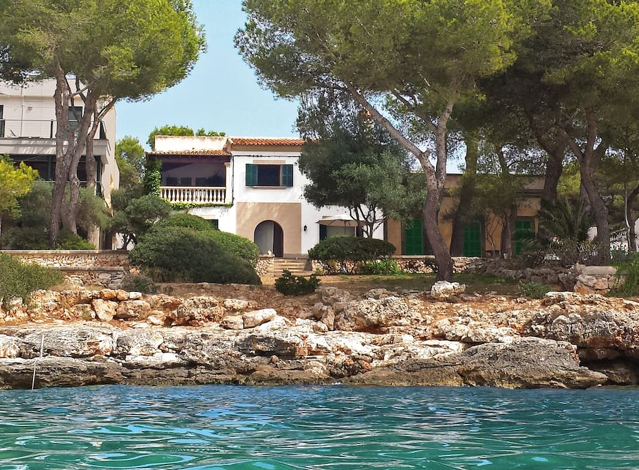 You can be swimming in the water just moments from the villa