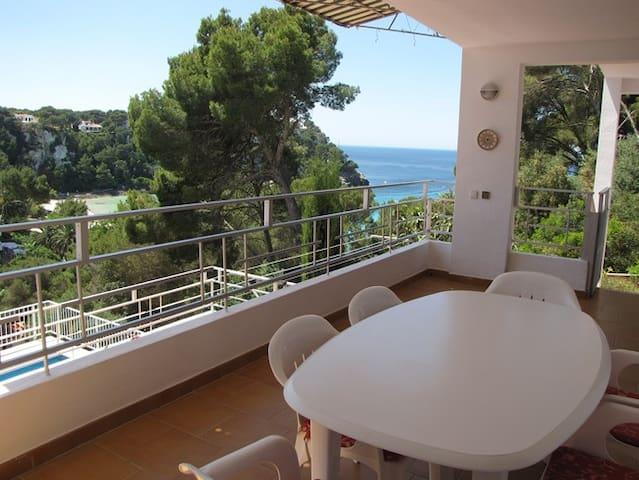 Apartamento con piscina privada y vistas al mar - Cala Galdana - Apartamento