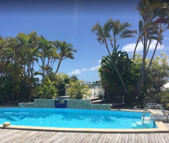 Appartement de 2 chambres à Saint François, avec piscine partagée, jardin aménagé et WiFi - à 1 km de la plage