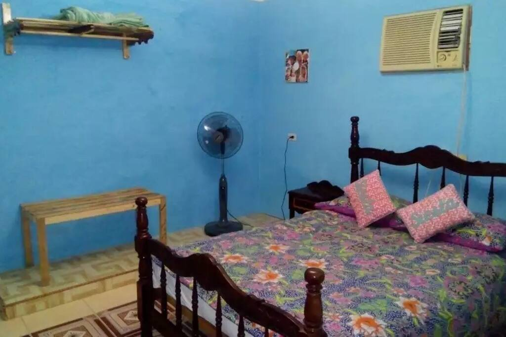 Bedroom one with air conditioning