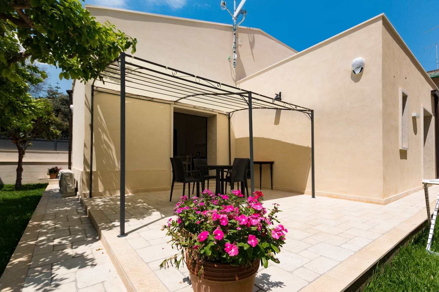 Outdoor space of the apartment