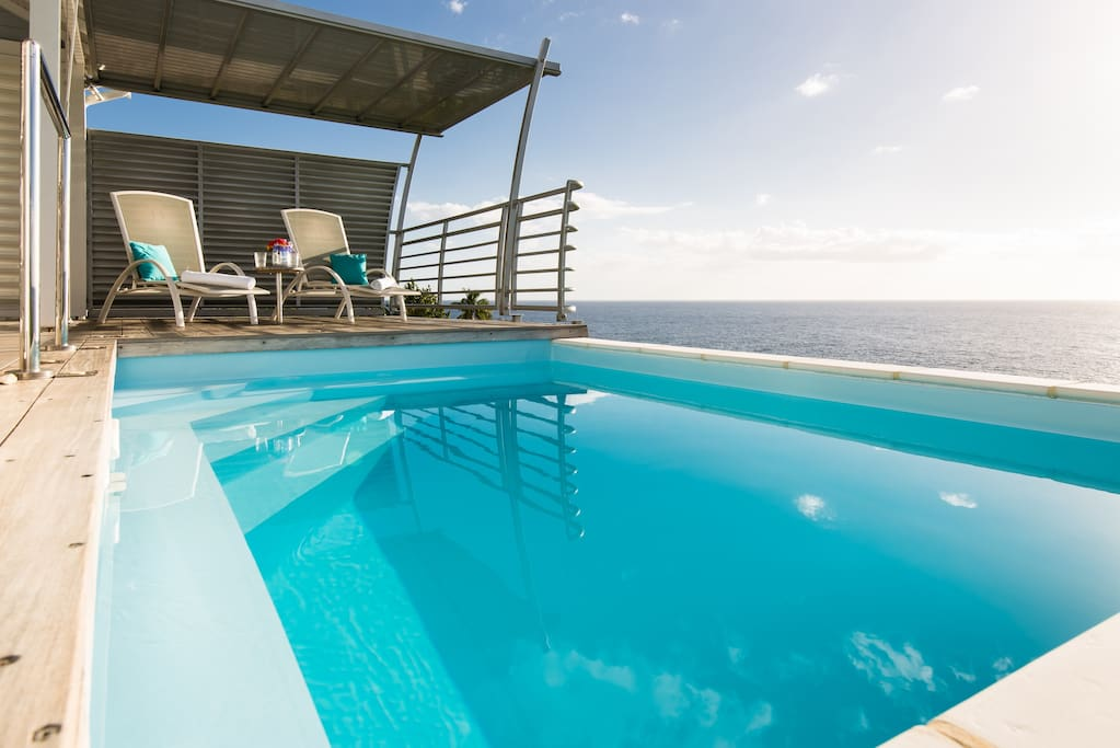 Votre piscine au sel.                Blue Haven Villas Guadeloupe