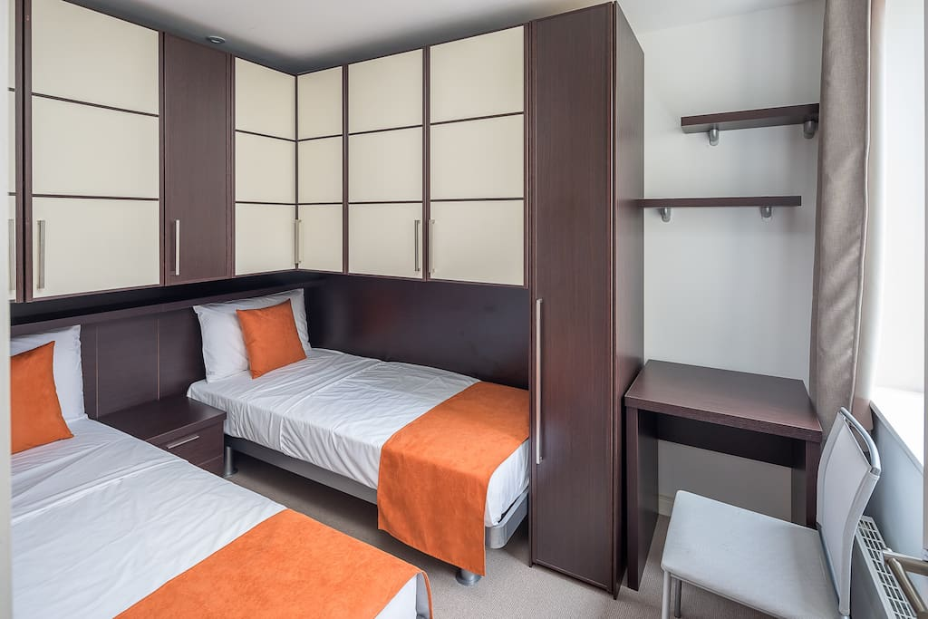 There are two twin rooms in the property, making it perfect for families.