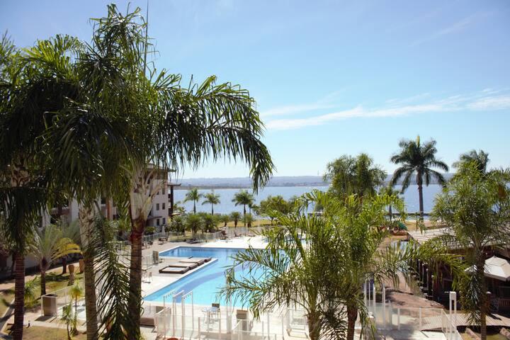 Life Resort  - Flat Vista para o lago