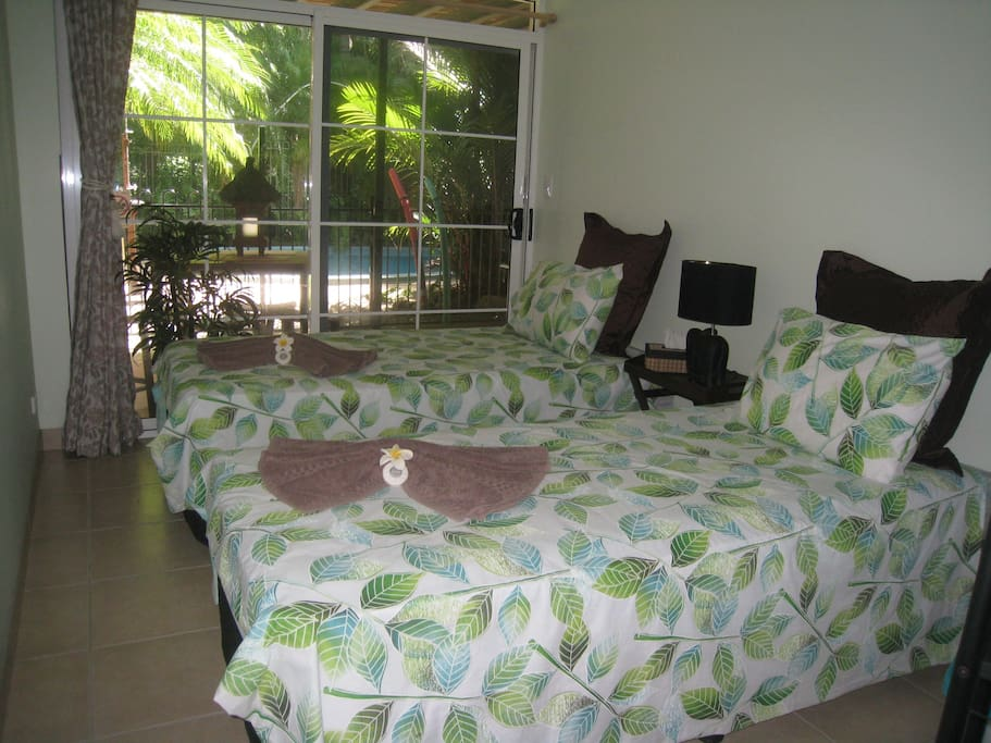 2nd Bedroom area twin beds or may convert to King Size on request