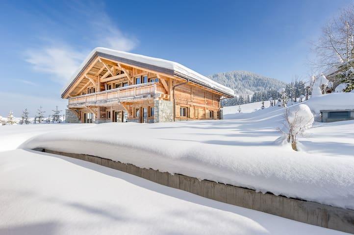 Superb chalet M, calm hamlet in Megève sleeps 10 - Megève - Alpstuga