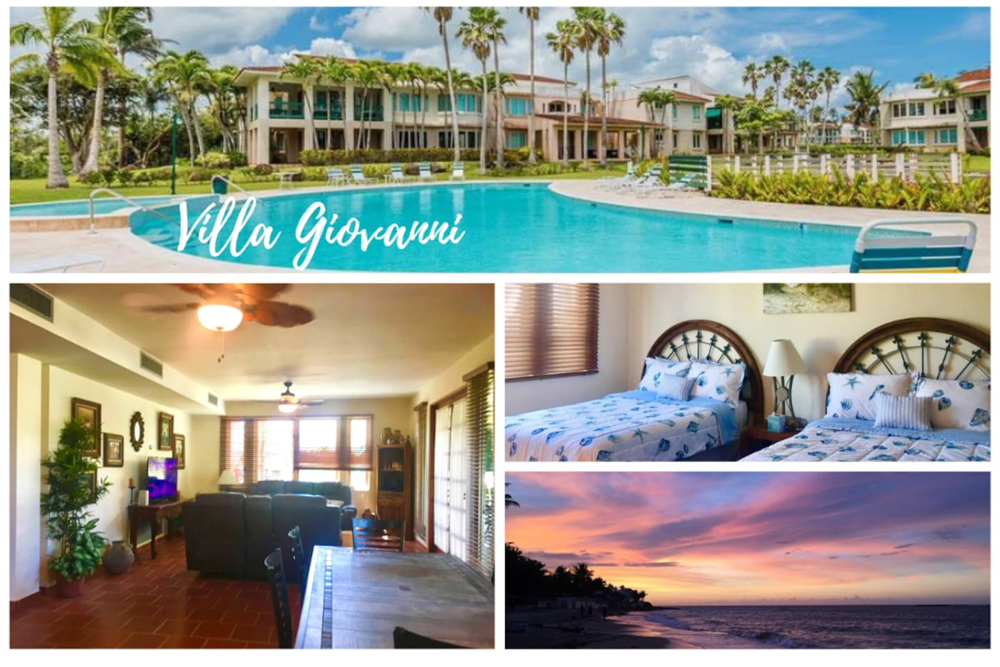 Villa Giovanni, in a beachfront gated community with 24-hour security, is a short one-minute walk from the Dorado area's fabulous beaches