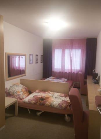 Privatzimmer im Zentrum für 1-2 Personen