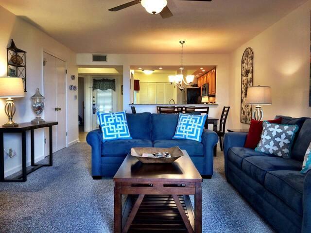 Open plan provides easy flow from front door to sun room