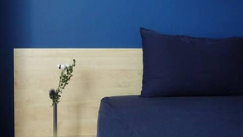 【无印良品风】上地「深蓝·阳光大床房」w/ dryer & oven