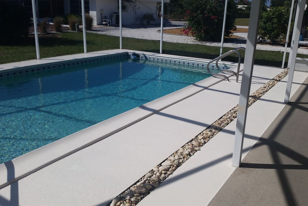 pool  - heated if required with screened cage and lanai area