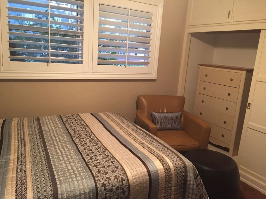 Other side of large closet with dresser for those that like to unpack.