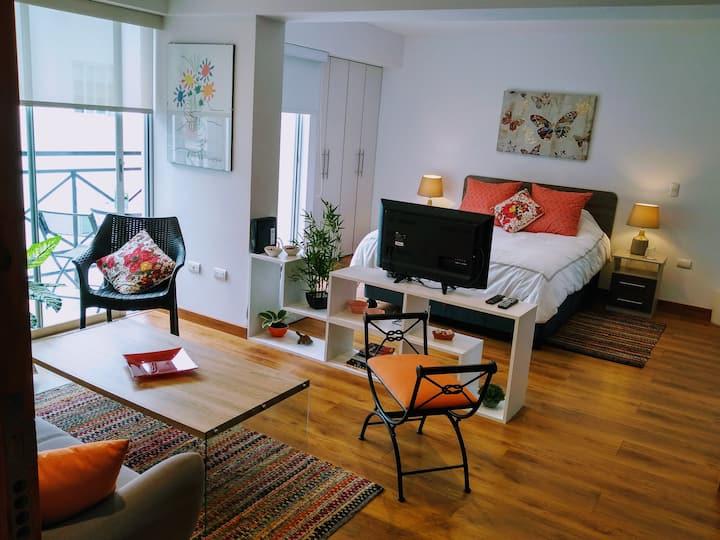 Lindo, nuevo y moderno departamento en Barranco