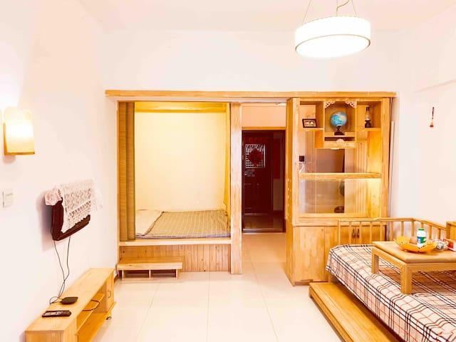 昆北阿尔丁北大街苏宁万达附近的一室一厅清新风格公寓