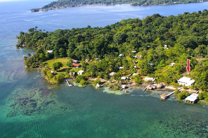 Caribbean Waterfront Villa - Views! - Bastimento - Huis