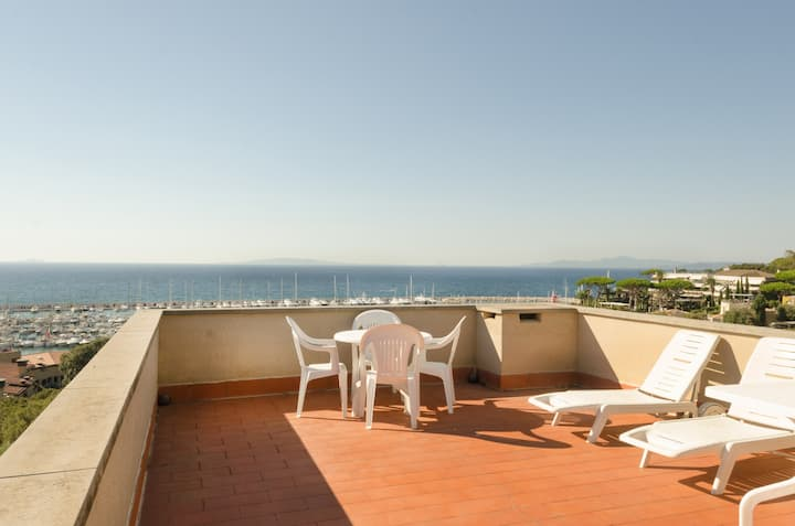 Breathtaking sea view+terrace+parking Tuscany 75