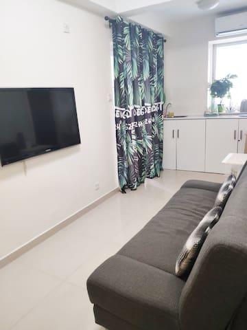 Petit yet cozy living room