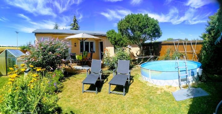 Ferienhaus am Niegripper See mit Pool