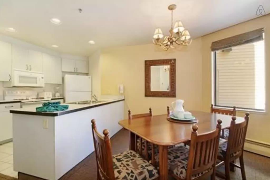 Full Kitchen in a Plaza unit.