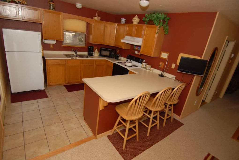 Fully Equipped kitchen all you need is food