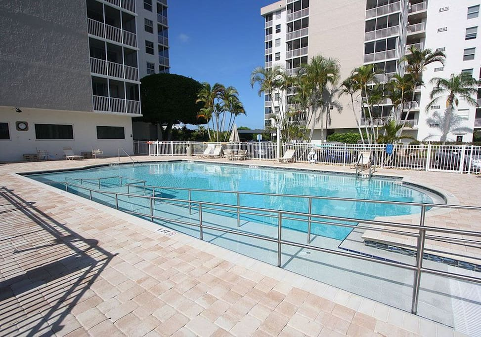 One of two pools, this one has a wheelchair ramp