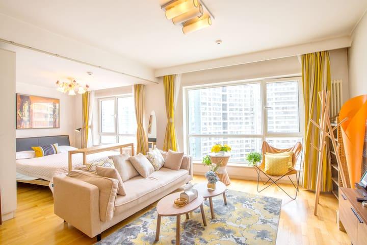 【可月租】1701世贸天阶新城国际精品公寓 - Pekin - Daire