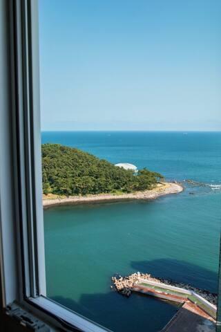Haeundae♡Ocean view♡#봄맞이sale#마린시티#동백섬,더베이5분#위치대박
