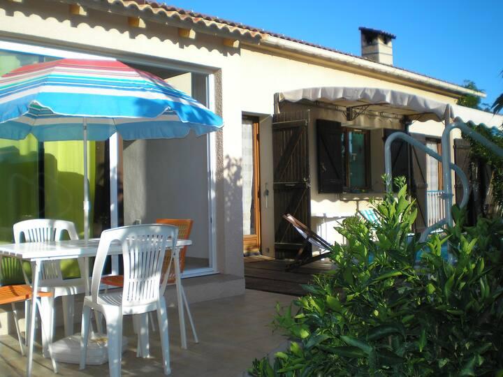 Ajaccio Villa piscine privée 5 pers - Climatisée