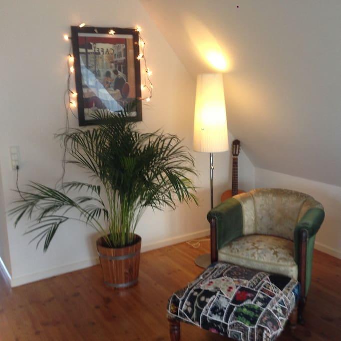 Cozy corner in the living room.