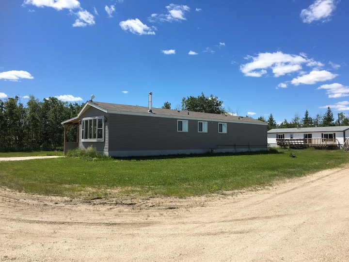 3 bdrm home 15 west of G.P. AB.  Safe private