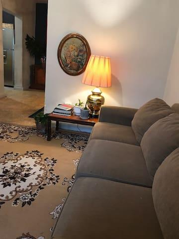 Sala con cómodo sofá para 3 personas