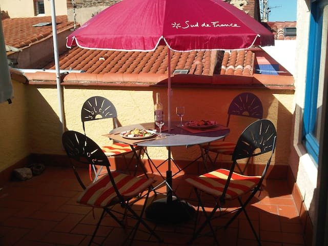 Charmant appartement, terrasse, plage 50m, wifi