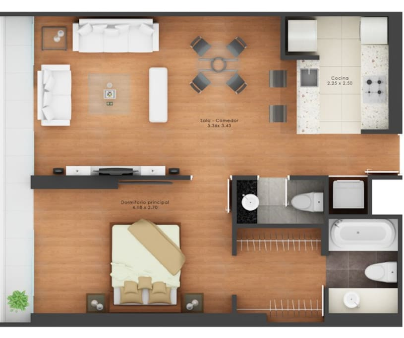 "Av Jose Pardo 570 _ ""Condo name Upper Pardo"" _ Floor Plan"