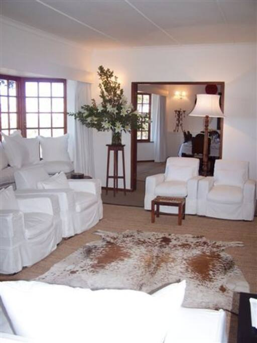 Sitting room with dstv and cable tv.