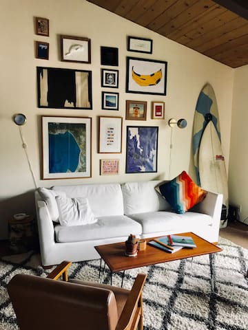 Mid-Century Styled Surf Condo in Pleasure Point