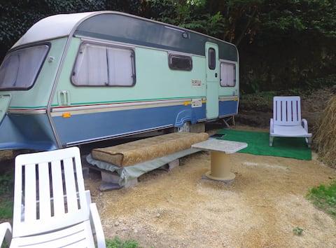 Green caravan