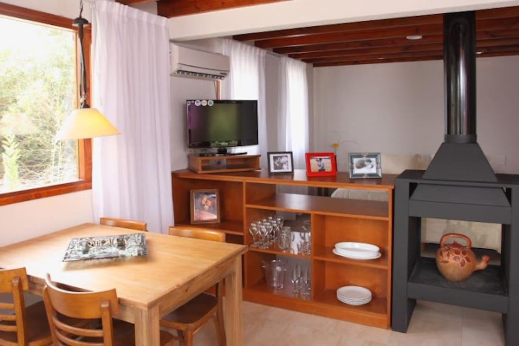 espacio living/cocina/hogar