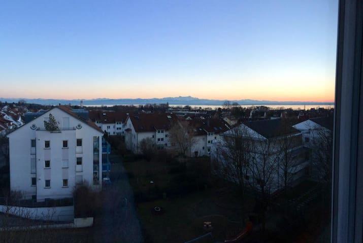 Zimmer mit Balkon und Seesicht - Friedrichshafen - Rumah