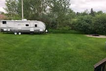 View of camper from the house
