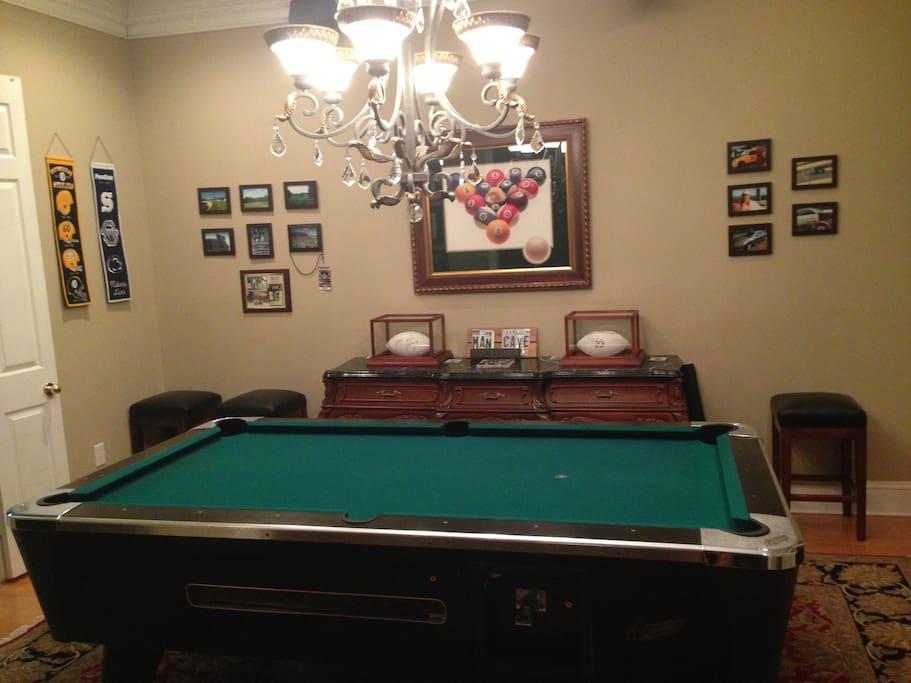 Pool room across from foyer