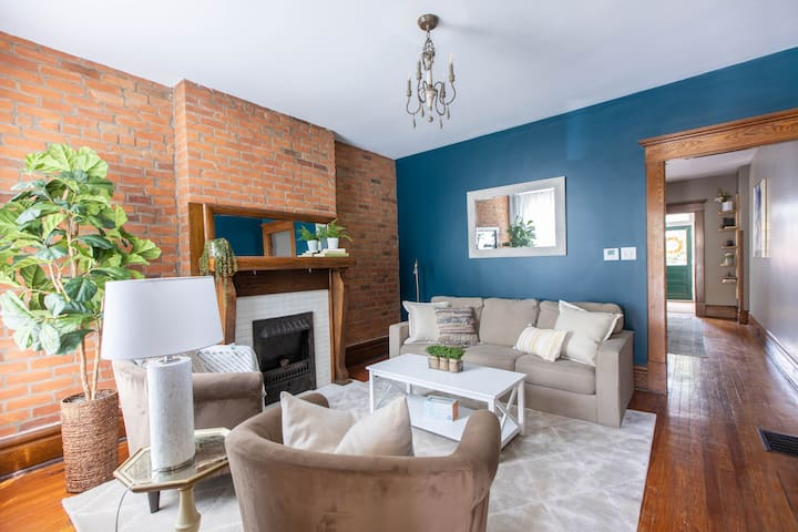 Quaint Townhome | Walkable | Work From Here!