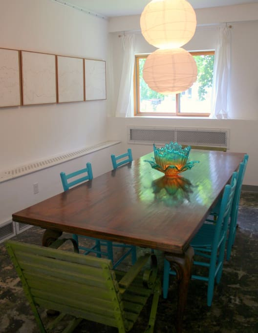 Dining Room -(table opens to accommodate up to 10 people)