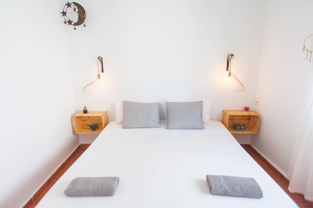 Enjoy a nice king size bed that can also be converted in two small beds if you don't want to sleep together. Mattresses are brand new and really comfortable for  a good sleep. We like to sleep well ourselves so we've chosen top quality.