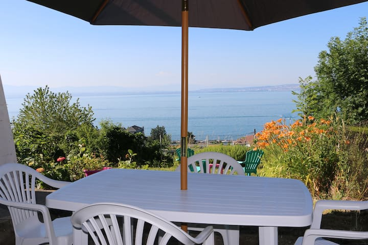 Garden level and panoramic lake view